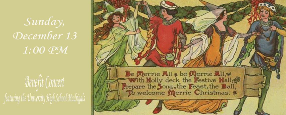 Madrigal Benefit Concert December 13th